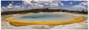GELATO GLOBAL PRINT - Landscape Aluminum Print - Sunset lake at Black Sand Basin - Yellowstone National Park, WY USA - Yunque Store