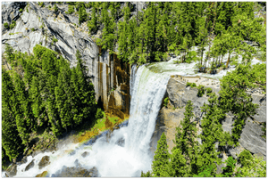 GELATO GLOBAL PRINT - Landscape Aluminum Print - Vernal Falls and Merced River, Yosemite National Park in CA USA - Yunque Store