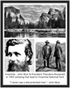 GELATO GLOBAL PRINT - Premium Matte Paper Wooden Framed Poster - Yosemite National Park & Meeting of John Muir & Pres. Roosevelt in CA USA - Yunque Store