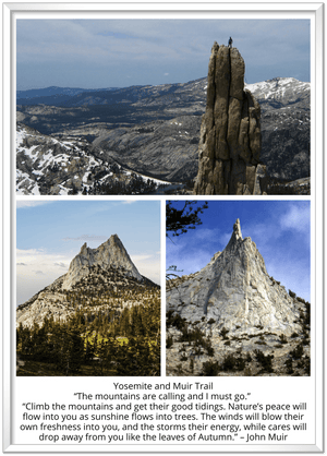 GELATO GLOBAL PRINT - Premium Semi-Glossy Paper Metal Framed Poster - Yosemite National Park in CA USA - Yunque Store