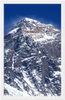 GELATO Global Print - Premium Semi-Glossy Paper Wooden Framed Poster - The Worlds Top Peak - THE EVEREST - official elevation of 8,848 m (29,029 ft) - Yunque Store