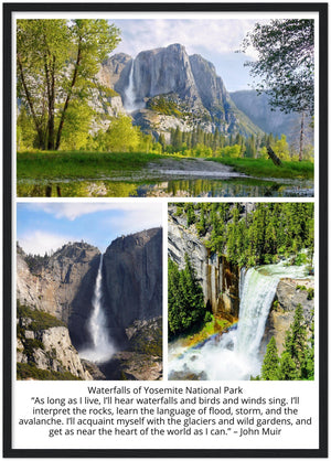 GELATO GLOBAL PRINT - Premium Semi-Glossy Paper Wooden Framed Poster- Yosemite National Park in CA USA - Yunque Store