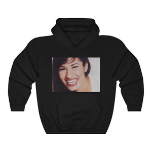 GILDAN 18500 - Unisex Heavy Blend™ Hooded Sweatshirt - Super-Star SELENA QUINTANILLA - 'Always believe that the impossible is possible' - MUCHO, MUCHO AMOR on back - Yunque Store