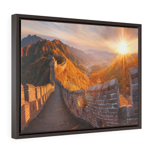 GREAT CHINA COLLECTION: Horizontal Framed Premium Gallery Wrap Canvas - Great Wall of China in autumn - another GLORY day! - Yunque Store