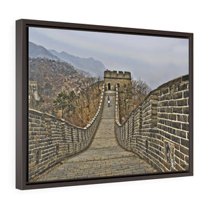 GREAT CHINA COLLECTION: Horizontal Framed Premium Gallery Wrap Canvas -The Great Wall of China - HDR photography to enhance details, China. - Yunque Store