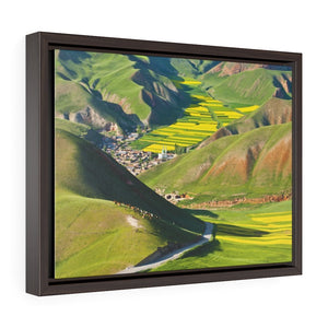 GREAT CHINA COLLECTION: Horizontal Framed Premium Gallery Wrap Canvas - Wonderful mountain landscape from China - Yunque Store
