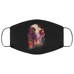 Hand painted bassethound human Face Mask - Yunque Store