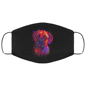 Hand painted Bullmastiff human Face Mask - Yunque Store