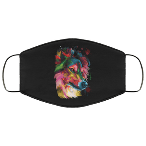 Hand painted sheltie human Face Mask - Yunque Store