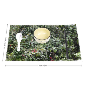 Hard Canvas - Four-piece Placemats - High Mountain Dense Foliage - Toro Negro rainforest Park Over 4,000 feet altitude - Highest in Puerto Rico - Yunque Store