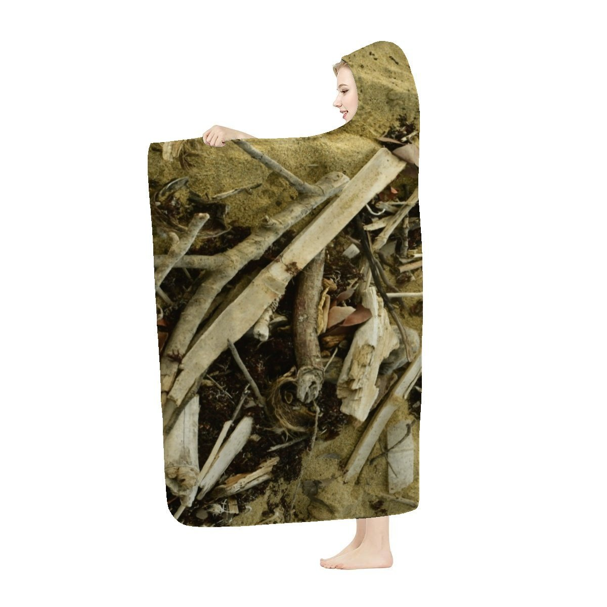 Hooded Blanket - Things the waves bring - Isabela Beach Puerto Rico - Yunque Store