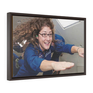 Horizontal Framed Premium Canvas - Astronaut Christina Koch back on Earth after a record-breaking 328 days in space - Yunque Store
