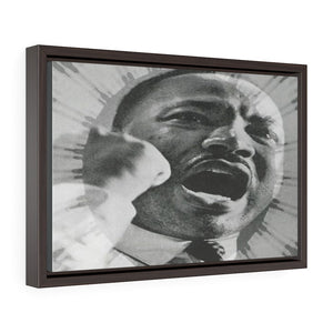 "Horizontal Framed Premium Gallery Wrap Canvas - MARTIN LUTHER KING JR - IN CELEBRATION OF MAY 17 1957 MLK SPEECH - ""GIVE US THE BALLOT"" ADDRESS IN WA. DC. - Yunque Store"