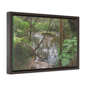Horizontal Framed Premium Gallery Wrap Canvas - The Rio Sabana river - upper sections after Hurr. Maria - El Yunque rainforest PR - No3 Canvas Printify