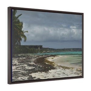 Horizontal Framed Premium Gallery Wrap Canvas - USA Print - Unique REMOTE Mona Island - Galapagos of the Caribbean - PR - Yunque Store