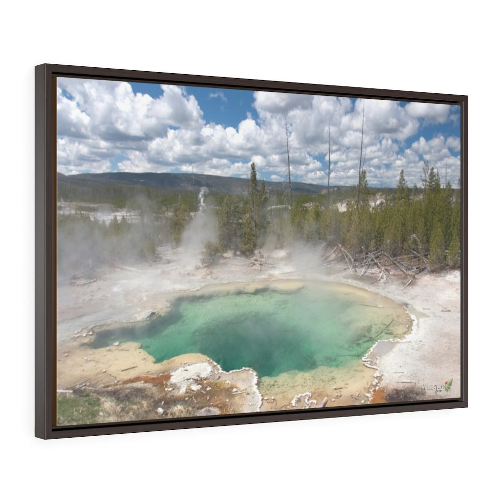 Horizontal Framed Premium Gallery Wrap Canvas 👉 YELLOWSTONE PARK CALDERAS - NPS USA Wyoming 💘 A LIFE CHANGING EVENT - Yunque Store