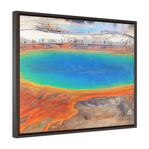 Horizontal Framed Premium Gallery Wrap Canvas 👉 YELLOWSTONE PARK - Grand Prismatic Spring i - NPS USA Wyoming 💘 A LIFE CHANGING EVENT - Yunque Store