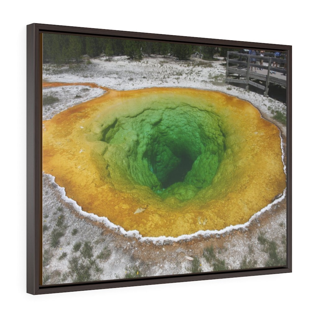 Horizontal Framed Premium Gallery Wrap Canvas 👉 YELLOWSTONE PARK - Morning Glory Pool - NPS USA Wyoming 💘 A LIFE CHANGING EVENT - Yunque Store