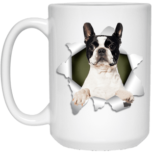 I LOVE 💘 Pets Series - Amazing Dog Art Mugs - Remember them with every cup of Coffee 🐕😎🐕 - ideal GIFT 🎁 For Him or Her 🥰 - BOSTON TERRIER 3D 15 oz. White Mug - Yunque Store