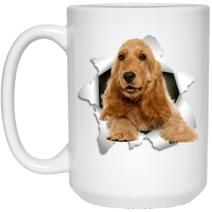 I LOVE 💘 Pets Series - Amazing Dog Art Mugs - Remember them with every cup of Coffee 🐕😎🐕 - ideal GIFT 🎁 For Him or Her 🥰 - ENGLISH COCKER 3D 15 oz. White Mug - Yunque Store