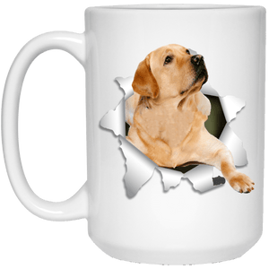 I LOVE 💘 Pets Series - Amazing Dog Art Mugs - Remember them with every cup of Coffee 🐕😎🐕 - ideal GIFT 🎁 For Him or Her 🥰 - LABRADOR RETRIEVER 3D 15 oz. White Mug - Yunque Store