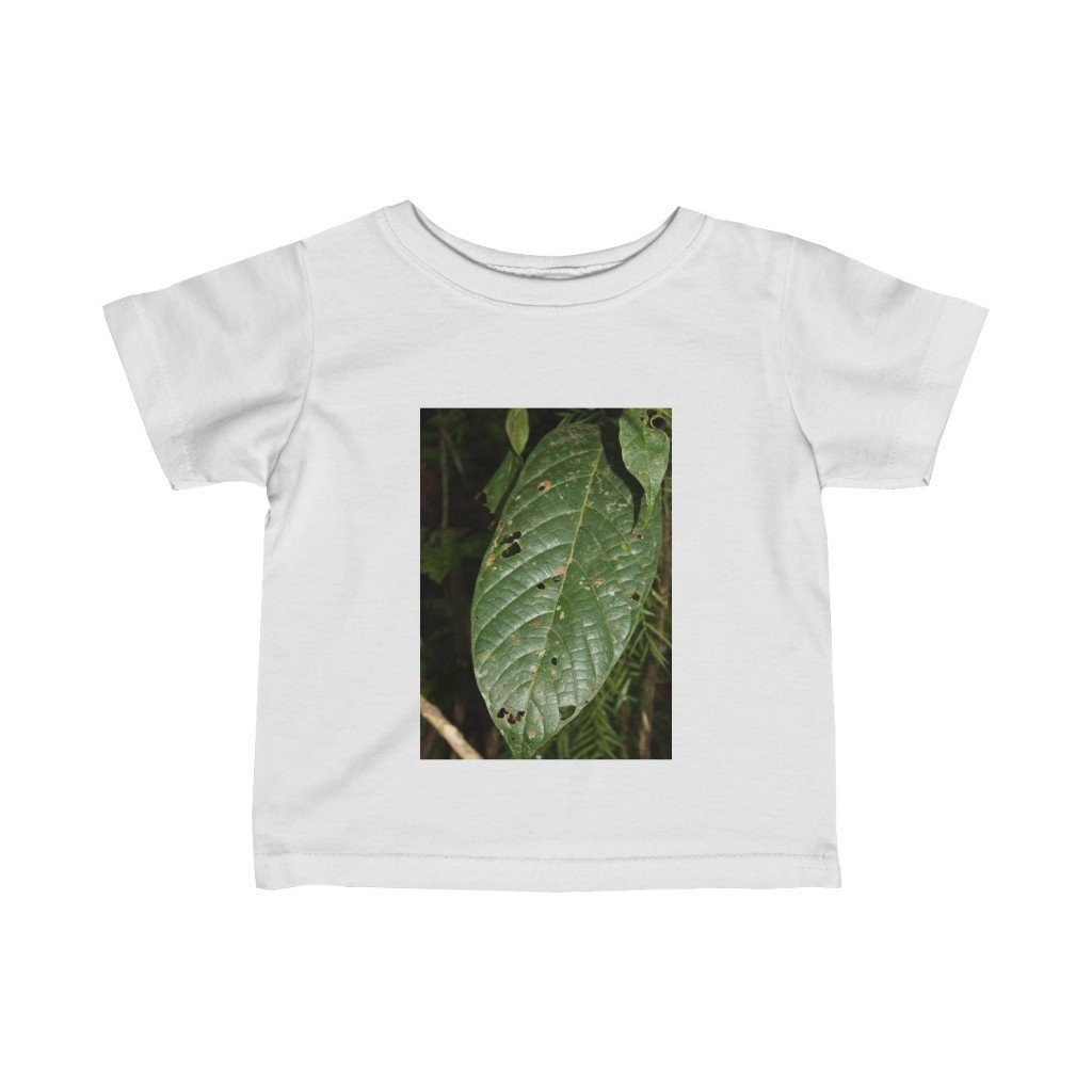 Infant Fine Jersey Tee - Tropical leaf and waterfall - El Yunque rain forest PR - Yunque Store