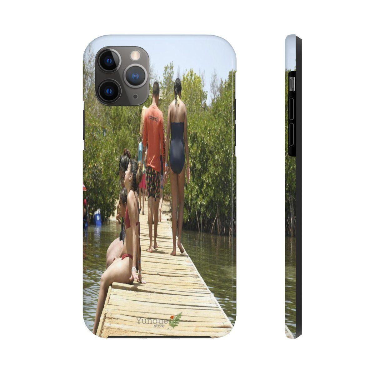 iPhone 11 - Case Mate Tough Phone Cases - Visitors of Gilliagans island in pier - PR Phone Case Printify