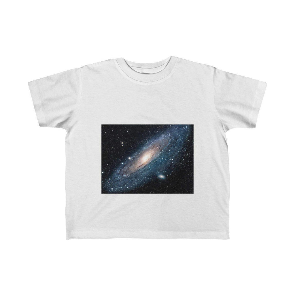 Kid's Fine Jersey Tee -The Andromeda galaxy - closest to the Earth at 2.5 million light-years - NASA image Kids clothes Printify