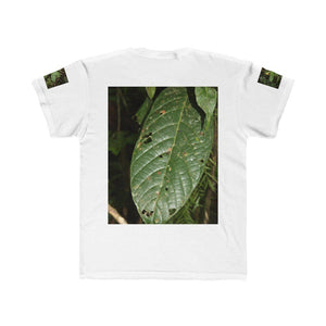Kids Regular Fit Tee - Jose on large tree and tropical leaf - El Yunque rain forest PR - Yunque Store
