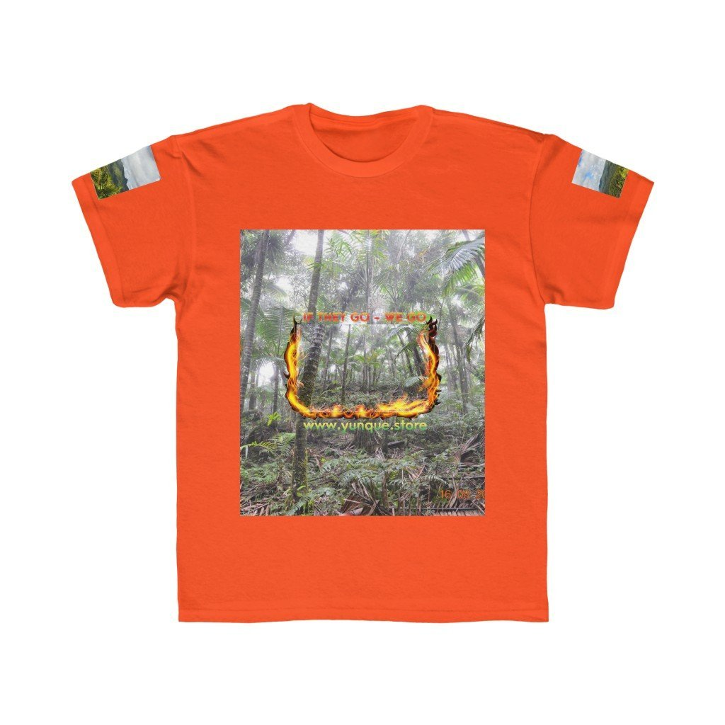 Kids Regular Fit Tee - Logo with Cloud Forest in El Yunque rain forest PR - Yunque Store