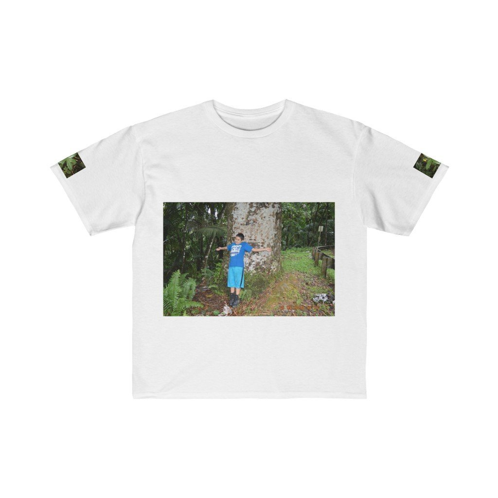 Kids Retail Fit Tee - Jose in large tree and the cloud forest - EYNF - El Yunque Rain Forest Puerto Rico - Yunque Store