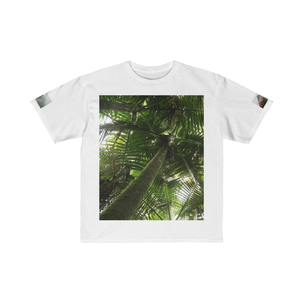 Kids Retail Fit Tee - Sierra Palm sideways views - EYNF - El Yunque Rain Forest Puerto Rico - Yunque Store
