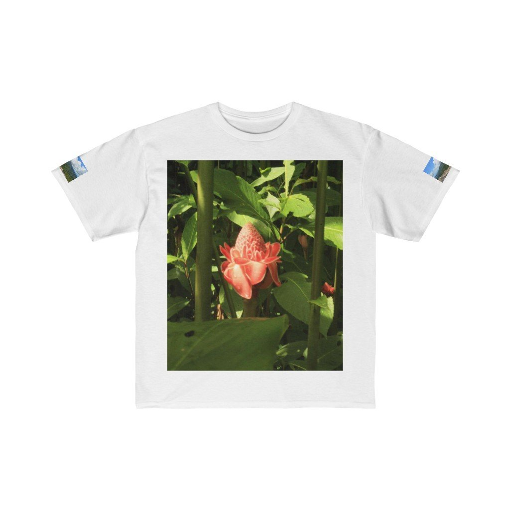 Kids Retail Fit Tee - Tropical flower and Paradise pond in La Mina - EYNF - El Yunque Rain Forest Puerto Rico - Yunque Store