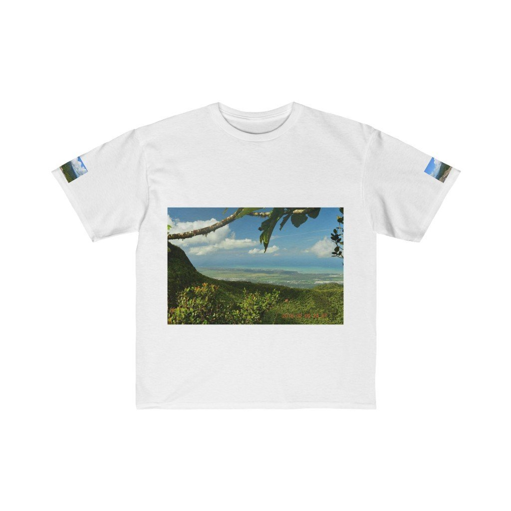 Kids Retail Fit Tee - View from 3K feet and tree embrace in Tradewinds trail - EYNF - El Yunque Rain Forest Puerto Rico - Yunque Store