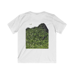 Kids Softstyle Tee - Views of El Yunque rain forest Puerto Rico after Maria Kids clothes Printify