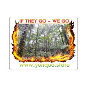 Kiss-Cut Stickers - Forest burnining - if they go WE go too! Paper products Printify