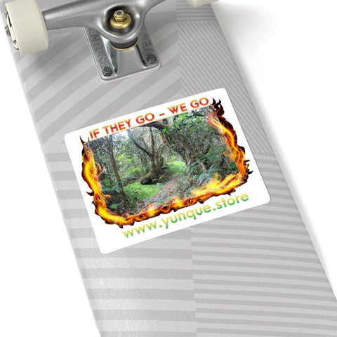 Image of Kiss-Cut Stickers - Forest burnining - if they go WE go too! Paper products Printify