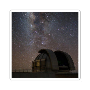 Kiss-Cut Stickers - The Mouna Loa Observatory at night Paper products Printify