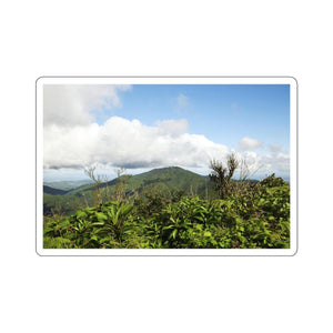 Kiss-Cut Stickers - Views of El Yunque rain forest Puerto Rico Paper products Printify