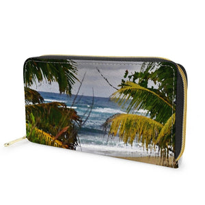 L Zipper Purse - Isabela beach Puerto Rico - image converted to painting 👍 - Yunque Store