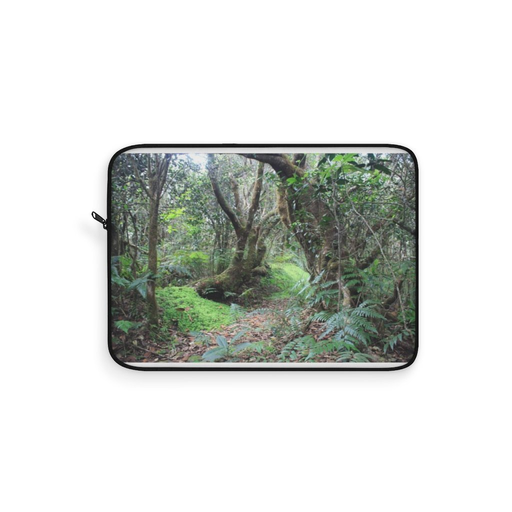 Laptop Sleeve - El Yunque rainforest PR - Tradewinds trail magic cloud forest path - Yunque Store