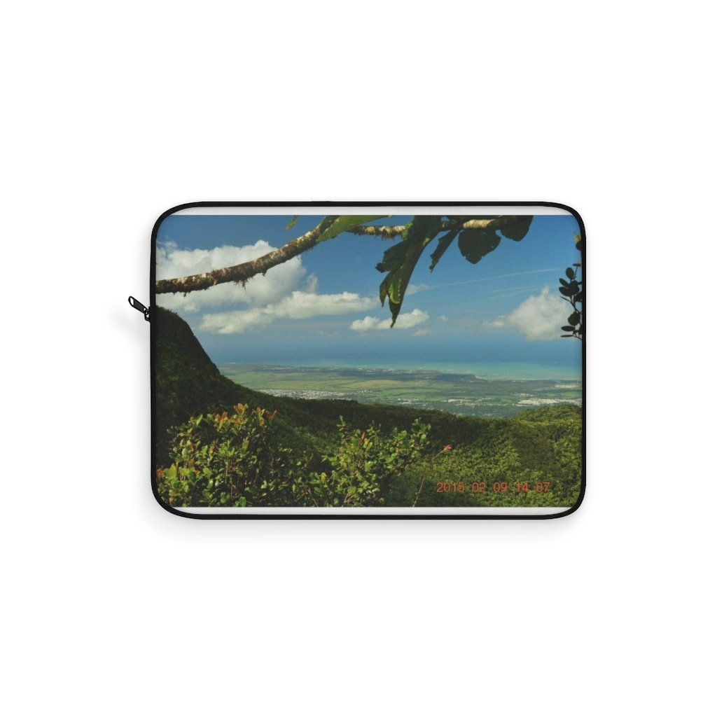 Laptop Sleeve - El Yunque rainforest PR - view from peak - Yunque Store