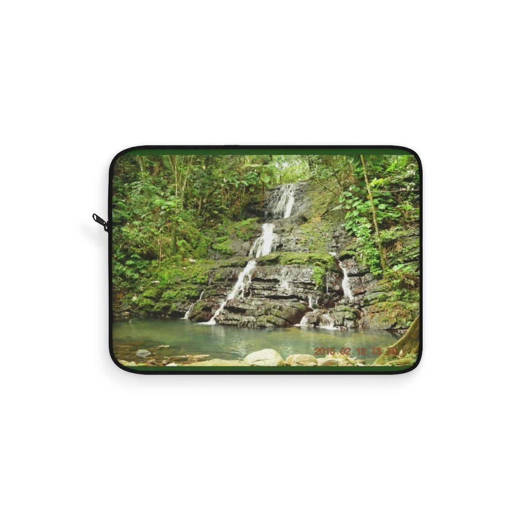 Laptop Sleeve - Hidden forest waterfall El Yunque rain forest PR - Yunque Store