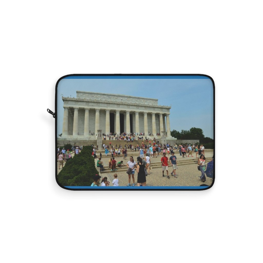 Laptop Sleeve - The Lincoln Memorial in WA DC - in honor of the president who saved the Union. - Yunque Store