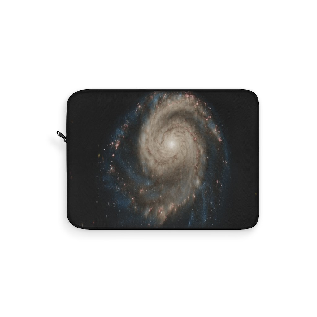Laptop Sleeve - The M51 Whirpool Galaxy - a NASA image composite - about 20 M light-years away. - Yunque Store