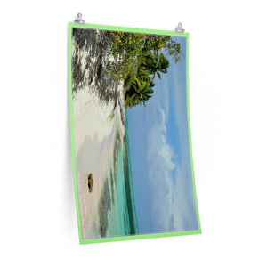Low cost quality Posters - Pristine and remote - edge of Pajaros Beach in Mona Island PR Poster Printify