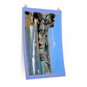 Low cost quality Posters - Pristine and remote - Pajaros Beach and El Faro - in Mona Island PR Poster Printify