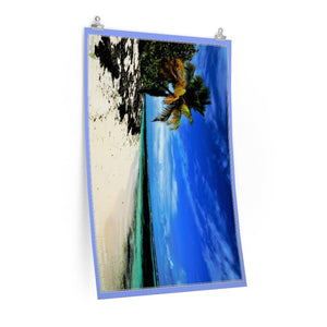 Low cost quality Posters - Pristine and remote - Pajaros Beach blue sky in Mona Island PR - Yunque Store