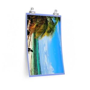 Low cost quality Posters - Pristine and remote - Pajaros Beach blue sky in Mona Island PR Poster Printify