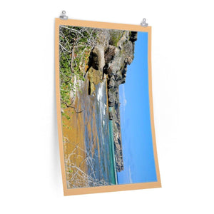 Low cost quality Posters - Pristine and remote - Pajaros Beach brown algae - Mona Island PR Poster Printify